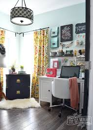 Colorful Boho Craft Room Home Office Tons Great Diy Decor DMA