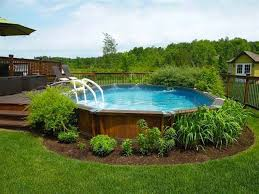 Backyard Pool Designs Landscaping Pools Magnificent 48 Ways To PrettyUp An AboveGround Pool In 48 Pool Pinterest