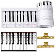 Piano Note Chart Amazon Com Ultimate Piano Keyboard Learning Aid Set 1 1 Scale 88
