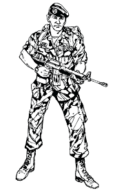 Army Coloring Pages Soldier At Getdrawingscom Free For Personal