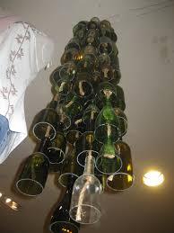 Wine Bottle Light Fixture Olive And Love Wine Bottle Chandelier Hanging Glass Votives