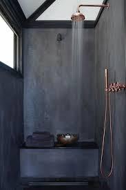 copper bathroom. Black And Copper Bathroom Inspiration - Via Noglitternoglory.com S