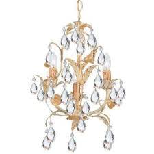 3 light champagne chandelier