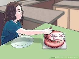 image titled decorate. Unique Titled Beautiful Birthday Cake Sketch Packed With Image Titled Decorate  Cakes Step For Prepare Inspiring 18th On Image Titled Decorate