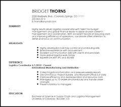 Logistics Resumes Best Logistics Coordinator Resume Unique Logistics Coordinator Resume