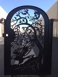 custom made metal gate steel eagle fairies home pedestrian walk thru iron garden on custom metal wall art houston with buy a handmade metal gate steel eagle fairies home pedestrian walk
