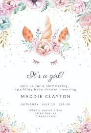 baby girl invite baby shower invitations for girls free templates