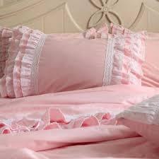 topic to interesting get solid pink twin comforter aliexpress com ruffle bedding target 3 4pcs cotton font b princess set lace