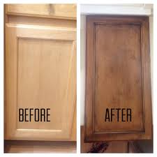 Refinish Wood Cabinets Refinishing My Builder Grade Kitchen Cabinets Diy Diy