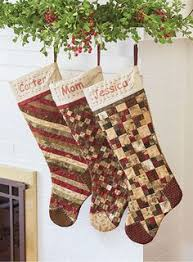 Christmas stocking from an old quilt. | Simply Christmas ... & Christmas Stockings Digital Pattern Adamdwight.com