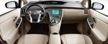 Prius Four interior shown in Bisque SofTex trim with available ...
