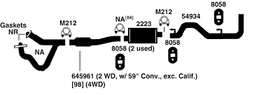 dodge dakota exhaust diagram from best value auto parts 1997 dodge dakota exhaust diagram