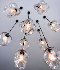 hand blown glass pendant lighting lights bubble necklace