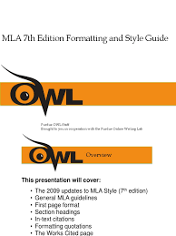 Purdue Owl Mla Formatting And Style Citation Writing