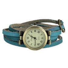 turquoise leather wrap watch view detailed images 1
