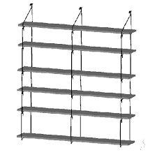 wall unit for 6 shelves 16 inch deep quick shelf shelving system