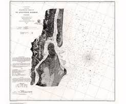 Foot History Chart Historical Nautical Chart Cp1069c Fl St Augustine Harbor Year 1861