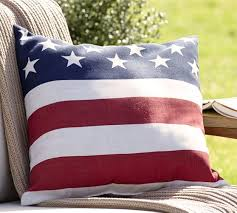 American Flag Indoor Outdoor Pillow