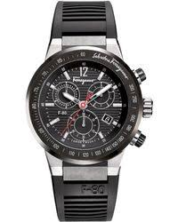 shop men s ferragamo watches from 480 lyst ferragamo rubber strap chronograph watch lyst
