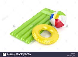 swimming pool beach ball background. Pool Raft, Beach Ball And Swim Ring On White Background Swimming