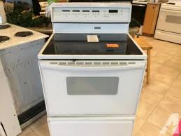 jenn air stove top. jenn air white smooth top range stove oven used for sale in electric ranges