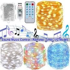 Timer 5m Details About 5m 10m Led Music String Fairy Lights Remote Control Timer Waterproof Party Decor