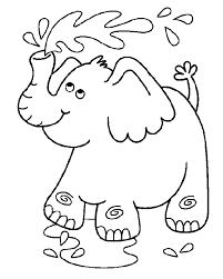 Olifant Kleurplaat School Dieren En Zo Elephant Coloring