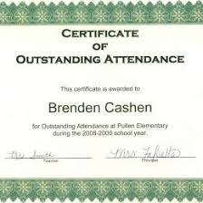 free perfect attendance certificate perfect attendance certificate templates 290718792216 free