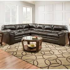 simmons sectional. simmons bingo brown padded sectional a
