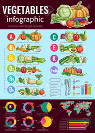 Healthy Vegetables Infographic Design Template With Sketches
