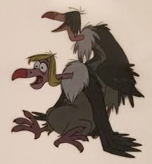 animation collection buzzie dizzy ziggy and flaps vulture original ion cels from the jungle bookdisney
