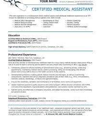 Medical Assistant Resume Template Free Mesmerizing Sample Medical Resumes Free Resume Template Fearsome Physician