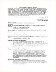 Resume Template On Word 100 academic resume template formal letter 100