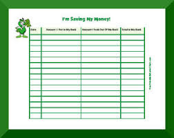 Save Money Monthly Chart Savings Charts