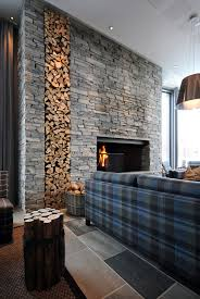 Exceptional Mixed Stone And Stacked Wood Cabin Concept