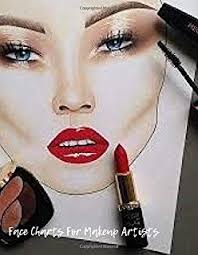 Face Charts For Sale Makeup Artist Face Chart Template Female Faces Large
