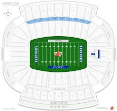 University Of Kentucky Stadium Seating Chart Kroger Field Student Endzone Football Seating