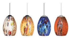 unique pendant lighting fixtures. Monty Mini In Blue, Opal, Red, Or Mocha Colored Glass Unique Pendant Lighting Fixtures E