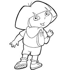 Small Picture Dora and Her Backpack in Dora the Explorer Coloring Page NetArt