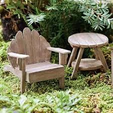 furniture fairy. Fairy Garden Miniature Adirondack Table Weathered 190-475 Furniture