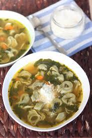 spinach tortellini in broth