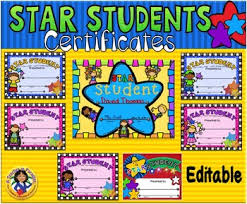 Star Student Certificates Star Students Certificates