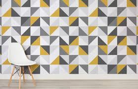 yellow-and-grey-abstract-geometric-design-room-wall-