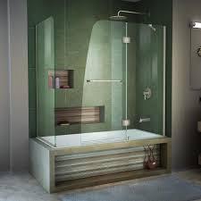 dreamline aqua 60 in w x 58 in h frameless bathtub door