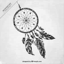 Drawn Dream Catchers Hand drawn dream catcher background Vector Free Download 8