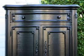 best paint for wood furniturePainting Wood Furniture High Gloss Black  TrellisChicago