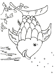 Small Picture Rainbow Fish Template Coloring Free Printable Coloring Pages