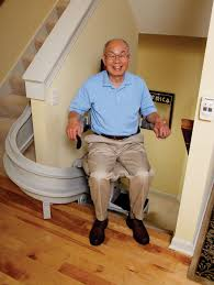 standing stair lift. Curved Stair Lift - Bruno Elite Custom Standing Stair Lift