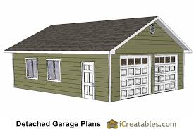 24x32 2 car garage plans with two doors