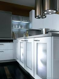 modern kitchen cabinets with glass doors frosted glass cabinet doors and lighted shelves kitchen design modern